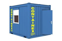 Büro-Manschafts-Container  3 m ***_Stirnfenster mieten leihen