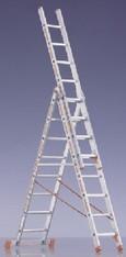Alu-Leiter 10 m     Mehrzweck 3-tlg mieten leihen