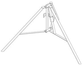 Dreibein_Stützenständer  mieten leihen