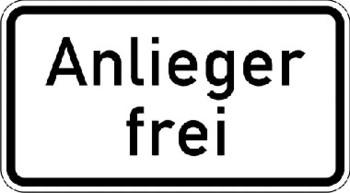 Verkehrszeichen Zusatschild_ZZ mieten leihen