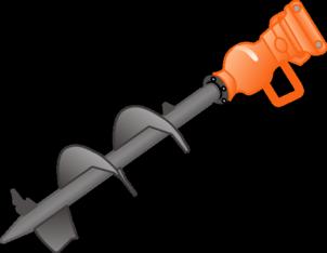 Bohrspindel  200   für hydraulischen Eindrehmotor  zu Mini-Radlader + Bagger mieten leihen