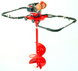 Erdbohr Gerät 2-Mann  mit Bohrwendel 200 mm mieten leihen