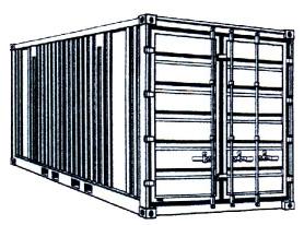 Lager- Material-Container   3 x 2 m_Massiv mieten leihen