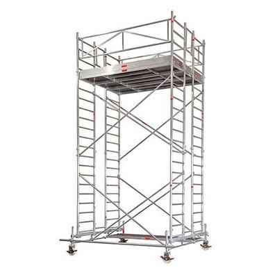 Alu FahrGerüst  5,6 m_Ah   2,85 x  2  m _Plattform_ mieten leihen