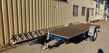 Anhänger 1,1 to Langgut-Anhänger Plattform 4 m mieten leihen