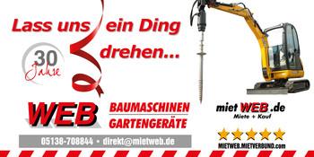 Mini-Bagger   1 to + Anhänger  _AKTION mieten leihen