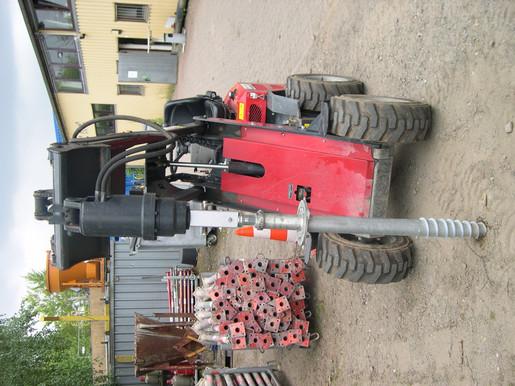 ErdBohrmaschine Hydraulisch Mini-Radlader mieten leihen