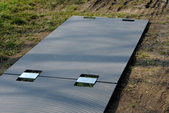 Bodenschutzmatten Fahrplatten 150 x 100 cm  Belastung 10_to mieten leihen